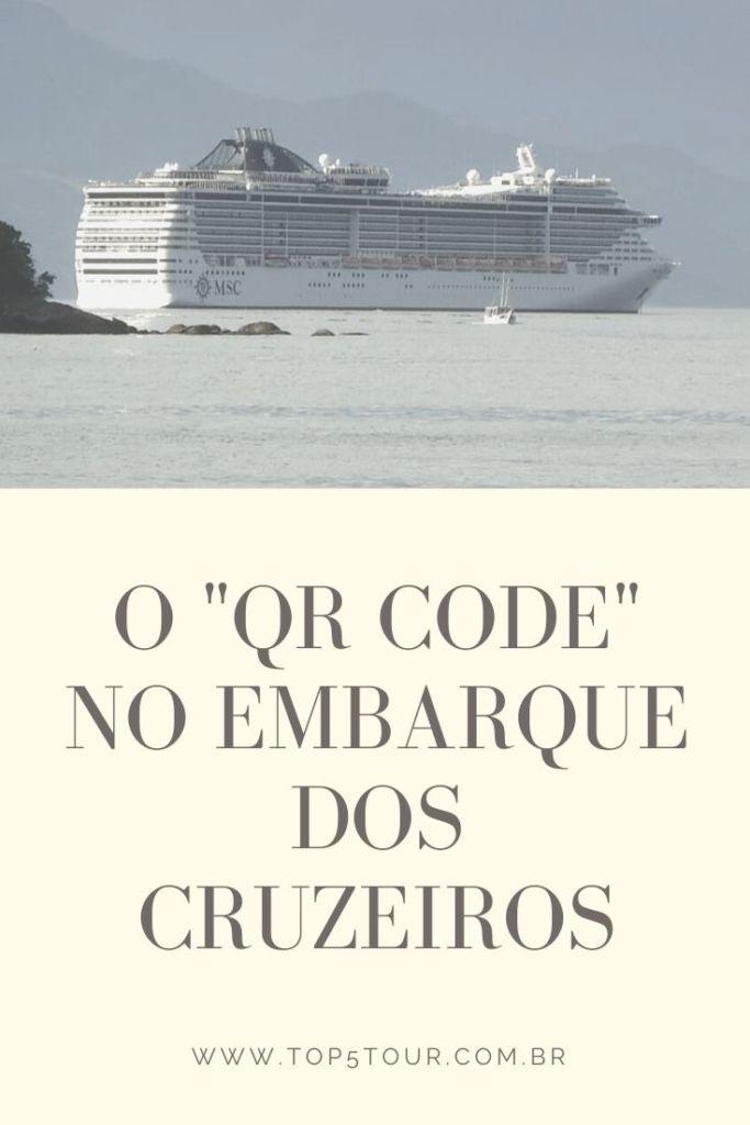QR code no embarque de cruzeiros