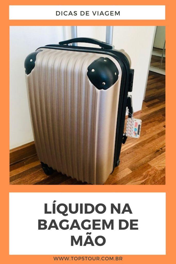 liquido na bagagem de mao