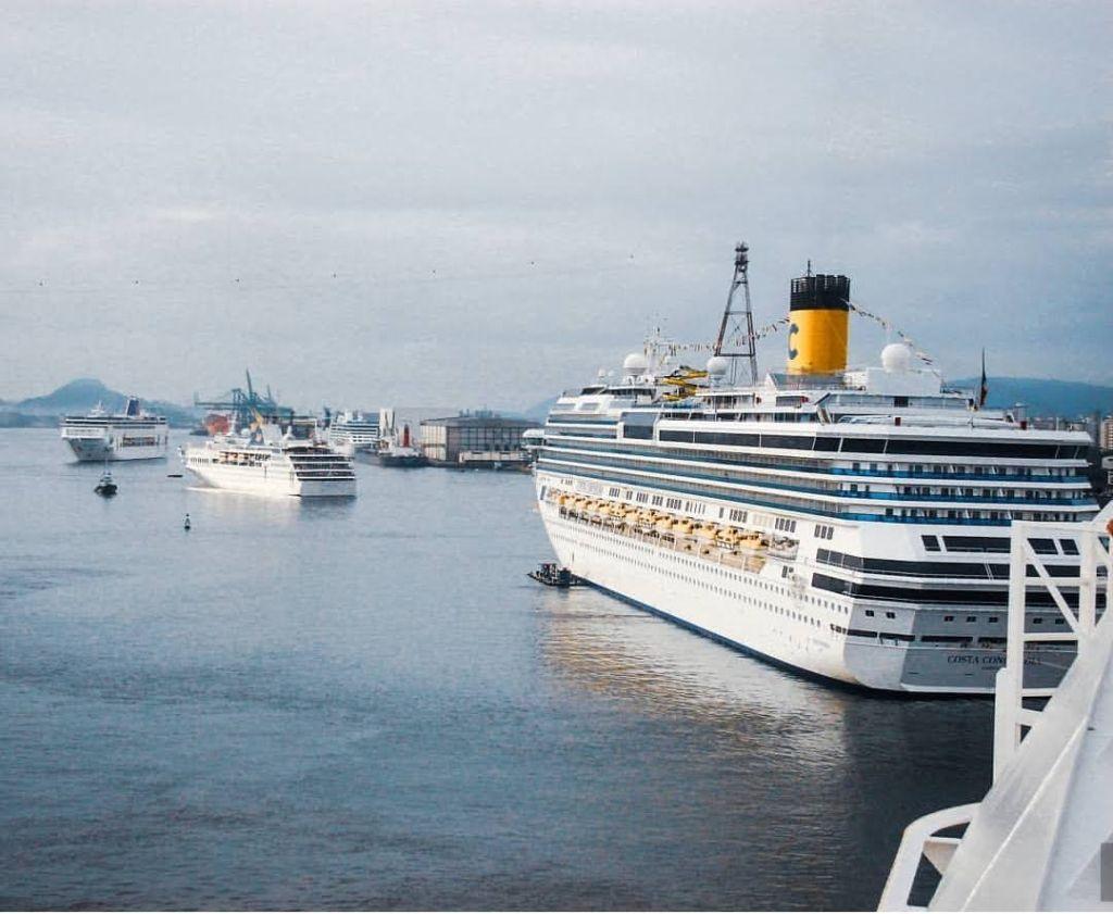 onde estão os navios de cruzeiro