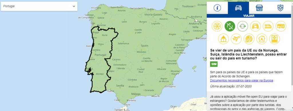 abertura das fronteiras portugal