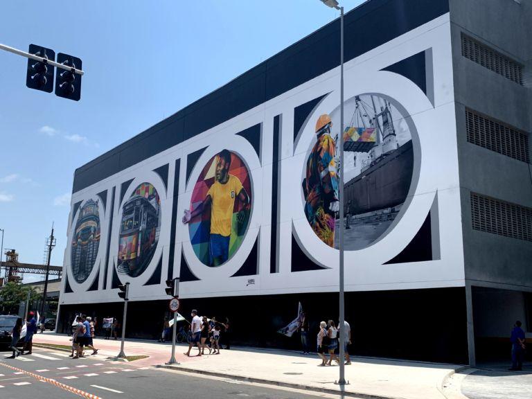 mural do kobra em santos