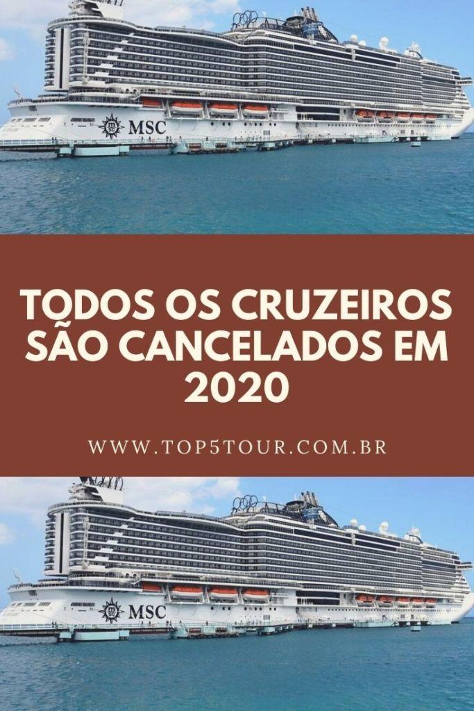 CRUZEIROS CANCELADOS EM 2020